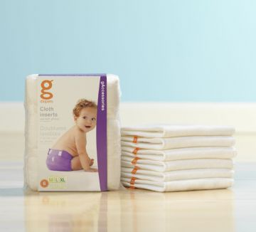 gDiaper Washable Cloth Inserts - pack of 6